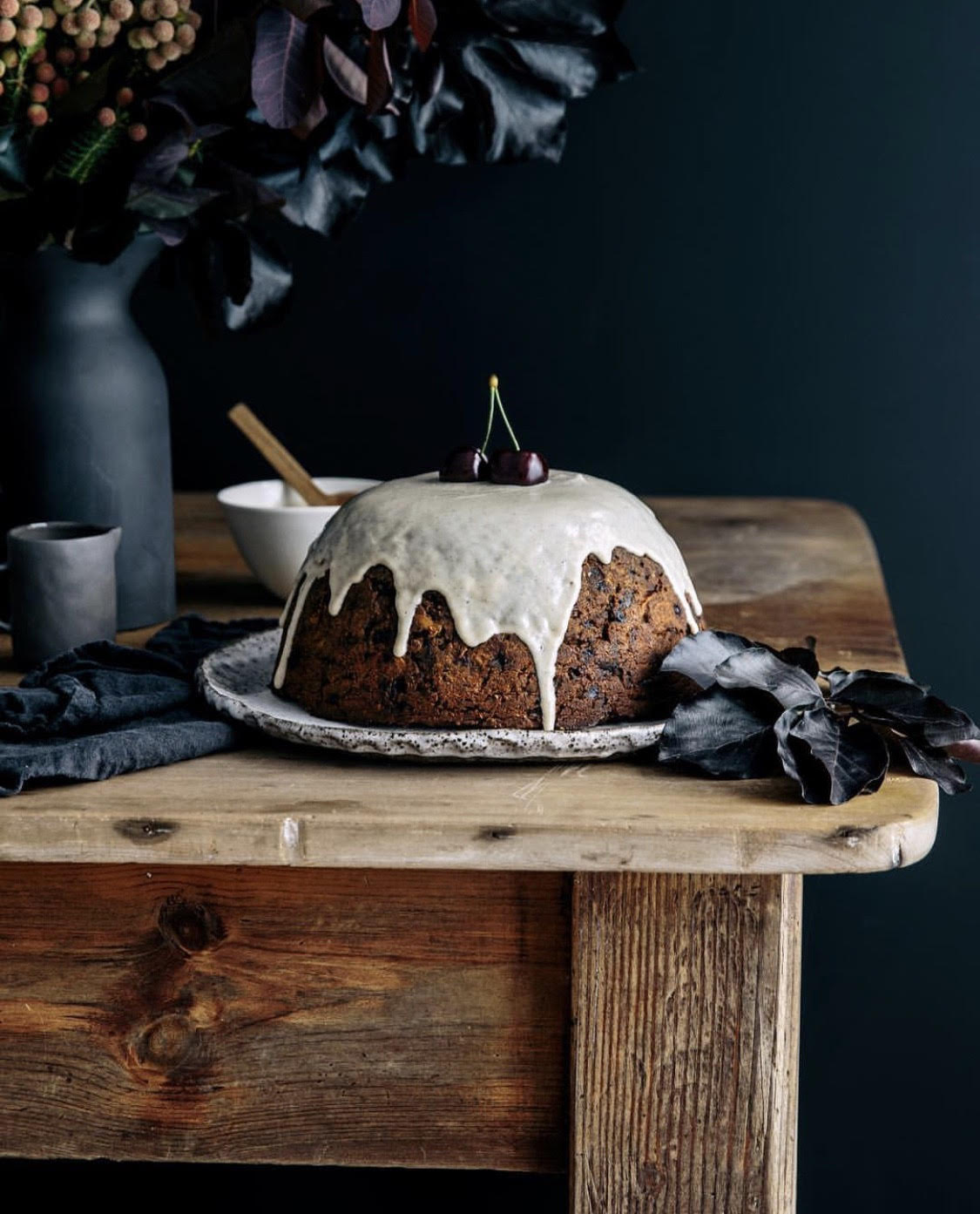 Sprouted Christmas Pudding